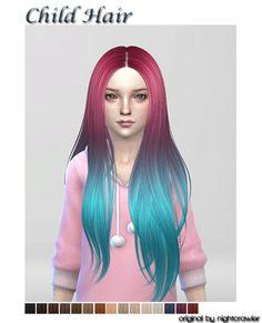 Lana CC Finds - Kids hair FC by Shojoangel