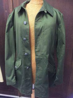 by WifinpoofVintage on Etsy Unique Vintage, Vintage Men, Vintage Shops, Military Issue, Work Jackets, Dieselpunk, Military History, Military Jacket, Raincoat