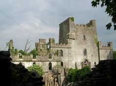 """Leap Castle, Co. Offaly, An abandoned old castle, Leamaneh Castle, The Burren, Co. Clare The castle was originally a basic, multi-storied Irish tower house which was built circa 1480, probably by Toirdelbhach Donn MacTadhg Ó Briain, King of Thomond, one of the last of the High Kings of Ireland & a direct descendant of Brian Boru. The castle's name """"Leamaneh"""" is believed to be derived from the Irish """"léim an éich"""" which, when translated into English means """"the horse's leap""""."""