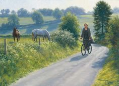 Bicycle ride down a country road