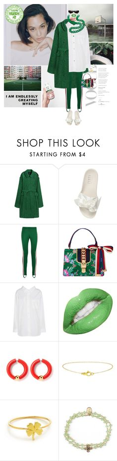 """Fire in the water"" by gizibe ❤ liked on Polyvore featuring pushBUTTON, Puma, Gucci, Balenciaga, Jennifer Meyer Jewelry, OSCAR Bijoux and Turner & Tatler"