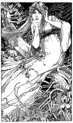 (via: turnofthecentury) Ophelia by F.H. Ball,1901