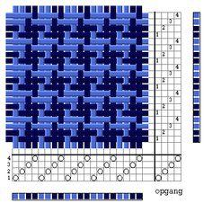 schijnpatroon in keperbinding Weaving Loom Diy, Card Weaving, Tablet Weaving, Paper Weaving, Weaving Textiles, Weaving Patterns, Potholder Loom, Potholder Patterns, Textile Courses
