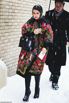 New_York_Fashion_Week-Street_Style-Fall_Winter-2015-miroslava_duma-floral_russian_print- by collagevintageblog, via Flickr