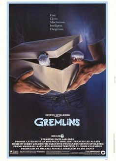 GREMLINS: Directed by Joe Dante. With Zach Galligan, Phoebe Cates, Hoyt Axton, John Louie. A boy inadvertantly breaks 3 important rules concerning his new pet and unleashes a horde of malevolently mischievous monsters on a small town.