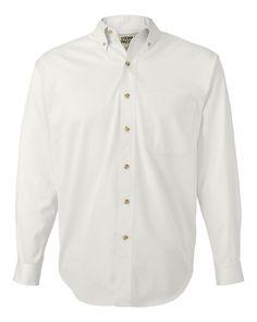 Sierra Pacific - Long Sleeve Cotton Twill Shirt - 3201 White