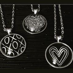 Valentine Necklaces #blackandwhite #valentinegift #valentineday #love #heart #xoxo #etsyshop #etsyseller #etsyfinds by vondelldesigns4kids