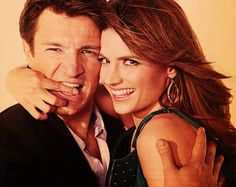 Stana Katic and Nathan Fillion   They are so great together in Castle