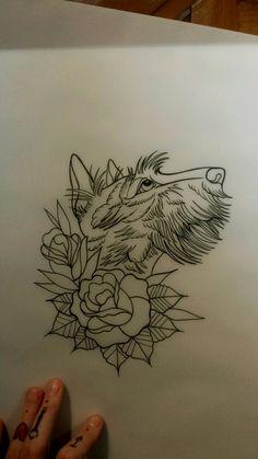 Scottish terrier tattoo Jesse, Blackcat PGH
