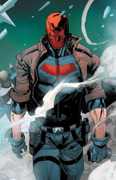 Red Hood Comic, Red Hood Dc, Red Hood Jason Todd, Jason Todd Batman, Robin Dc, Batman Robin, Red Hood Wallpaper, Batman Painting, Arte Ninja