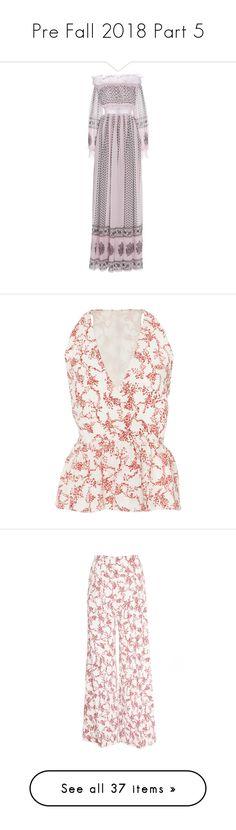 """Pre Fall 2018 Part 5"" by jckyleeah ❤ liked on Polyvore featuring RomanceWasBorn, prefall2018, jckyleeahprefall2018, dresses, ruching dress, pink off the shoulder dress, shirred dress, pink maxi dress, pink dress and tops"