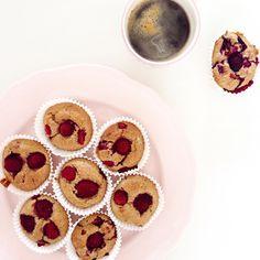 Havermout muffins met frambozen www.foodiemarjan.nl