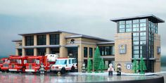 Fire Station: A LEGO® creation by Steven Asbury : MOCpages.com