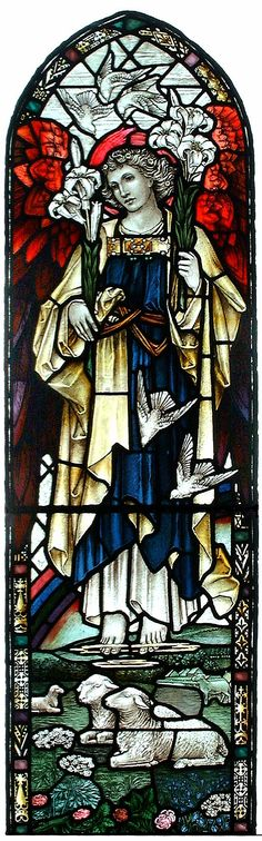St Gabriel in Stained Glass