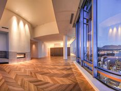 Shangri-la Vancouver Penthouse first of 2 floors With 15 ft floor to ceiling windows Vancouver Bc Canada, Vancouver British Columbia, Shangri La Hotel, Empty Room, Floor To Ceiling Windows, Most Beautiful Cities, Pent House, Wonders Of The World