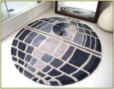 Star Wars Death Star Rug - this is a rug by it would make a cool quilt! Meninas Star Wars, Decoration Star Wars, Decorations, Star Wars Zimmer, Star Wars Bathroom, Home Music, Star Wars Room, Star Wars Quilt, Star Wars Decor