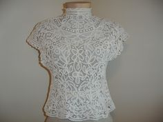 Edwardian Battenburg Lace Blouse Shirt, c.1905-1910. $275.00, via Etsy.