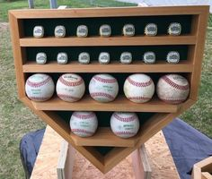 Baseball tournament ring & homerun ball display