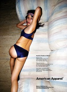 Pics For > American Apparel Ad