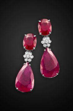 L'Or a porter - Joias e pedras preciosas - brincos rubi