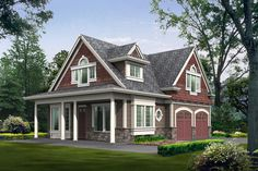 Cottage Style House Plan - 2 Beds 2 Baths 1295 Sq/Ft Plan #132-192 Front Elevation - Houseplans.com