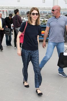Director Sofia Coppola leaves Nice airport during the 70th annual Cannes Film Festival at on May 26 2017 in Cannes France