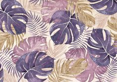 Classic yet on-trend now, tropical murals are everything. This Tropical Leaves wall mural by Di Brookes is custom-made to fit your wall. FREE UK delivery within 2 to 4 working days. Tropical Design, Mural Wall Art, Painted Leaves, Freelance Illustrator, Tropical Leaves, New Wall, Wall Wallpaper, Decoration, Drawings