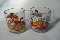 Vintage set of two 70s Garfield and Odie Coffee Mugs -Collectible August 12 2015 at 09:51PM