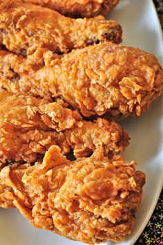 Extra Crispy Fried Chicken - going to try this recipe tonight...testing it on my step-son who is a fried chicken officianado. Will let you know how it rates!! :)