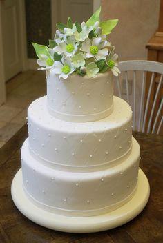 Wedding flowery cake