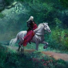 Game of Thrones A song of ice and fire Rhaegar Targaryen Lyanna Stark - the last dragon and the wolf maid Fantasy Love, Fantasy World, Rhaegar Y Lyanna, Arte Game Of Thrones, Fantasy Couples, Throne Of Glass, Mother Of Dragons, Fan Art, Fire And Ice