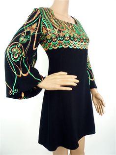 Genuine 60s hippie mini dress in  Black heavy by HuzzarHuzzar, £46.00