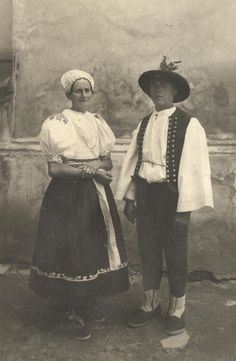 Area of town Púchov, Považie region, Western Slovakia. The Older I Get, Folk Costume, Costumes, Bratislava, Europe, Ethnic Fashion, Vintage Pictures, Traditional Outfits, Westerns