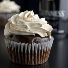 Guinness Cupcakes with Jameson Ganache and Bailey's Frosting | 34 Ways To Eat Guinness On St. Patrick's Day