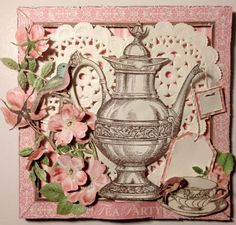 Botanical Tea card by Anne. The fussy cutting on this is just perfect! #graphic45