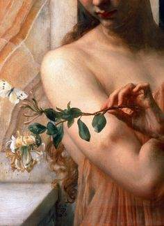 "Edward John Poynter,""Psyche in the Temple of Love"",1882 (detail)"