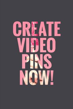 Create Video Pins Now! Read this post about Pinterest Video and how to create video pins, upload and share them for your business!