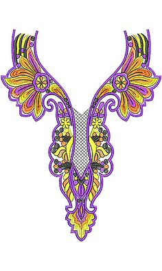Nightwear Nighty Embroidery Design