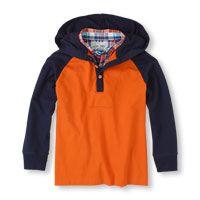 faux-layer raglan hoodie