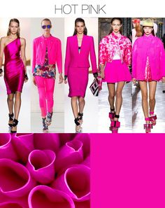 Trend Council: my color summer 2014 Fashion Colours, Pink Fashion, Colorful Fashion, Bright Pink, Red And Pink, Hot Pink, Magenta, Rupaul, Winter Typ