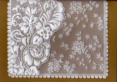 Bruce 1 | Flickr - Photo Sharing! Vellum Crafts, Paper Crafts, Parchment Design, Parchment Cards, Kirigami, Craft Patterns, Quilling, Birthday Cards, Stencils