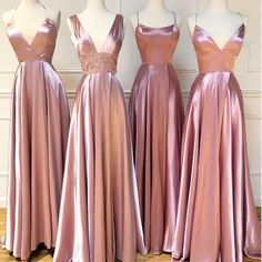 Pink Bridesmaid Dresses Long, Cheap Bridesmaid Dresses Online, Wedding Bridesmaids, Wedding Gowns, Party Wedding, Long Pink Dresses, Pink Brides Maid Dresses, Summer Wedding, Dream Wedding