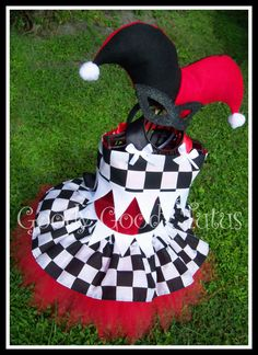 LITTLE MISS JESTER Harley Quinn Inspired Tutu by goodygoodytutus, $145.00
