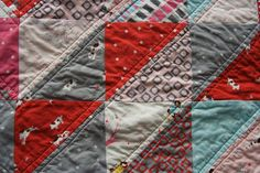 a quilt is nice: straight line quilting