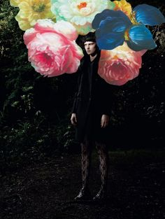 aphotographer andreas larson for Dolce & Gabbana for 10 magazine.  famous scottish artist jim lambie floral arrangements