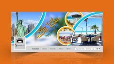 Tourist-Agent-Facebook-Cover-Design Facebook Cover Photo Template, Facebook Cover Design, Free Facebook, Friend Photos, Cover Photos, Free Design, The Help, Logo Design, Activities