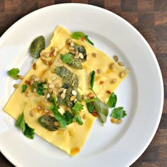Giant Delicata Squash Ravioli with Sage n Brown Butter