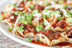Smoked BBQ Pork Nachos http://www.healthstartsinthekitchen.com/recipe/smoked-pork-bbq-nachos/?utm_campaign=coschedule&utm_source=pinterest&utm_medium=Hayley%20%40%20Health%20Starts%20in%20the%20Kitchen&utm_content=Smoked%20BBQ%20Pork%20Nachos