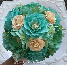 Paper Bouquet - Handmade Paper Flowers - Designed by Anna Fearer