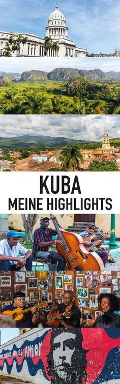 Cuba& sights - The highlights of my tour - Kuba Reisen Cuba Travel, Travel Maps, Africa Destinations, Travel Destinations, Best Places To Travel, Places To See, Cuba Tours, Attraction, Destination Voyage